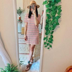 Madewell Pocket Tee Dress in Pablo Stripe